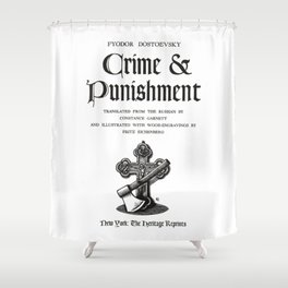 Crime and Punishment Fyodor Dostoevsky Title Page Shower Curtain
