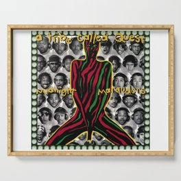 Suuyar Poster Tribe Called Quest Midnight Marauders Cover New Art Poster Serving Tray