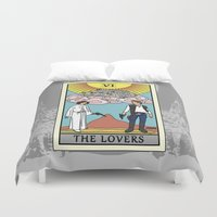tarot Duvet Covers featuring The Lovers - Tarot Card by kamonkey