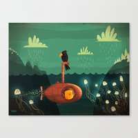 submarine Canvas Prints featuring Submarine by Ilias Sounas