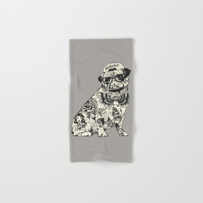 Pug Tattoo Hand & Bath Towel