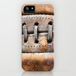 Old leather soccer ball iPhone Case
