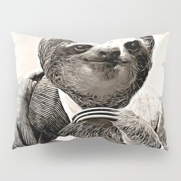 Gentleman Sloth with Assorted Pose Pillow Sham