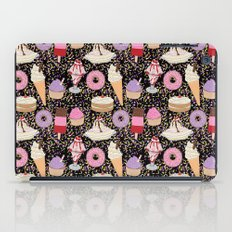 Sweet treats pattern with ice cream and doughnuts, donuts iPad Case