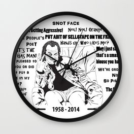 Quotes of Rik Mayall Wall Clock