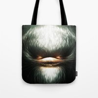 evil Tote Bags featuring Little Evil by Dctr. Lukas Brezak