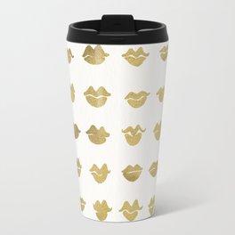 Kiss Collection – Gold Ink Travel Mug