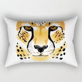 cheetah head close-up illustration Rectangular Pillow