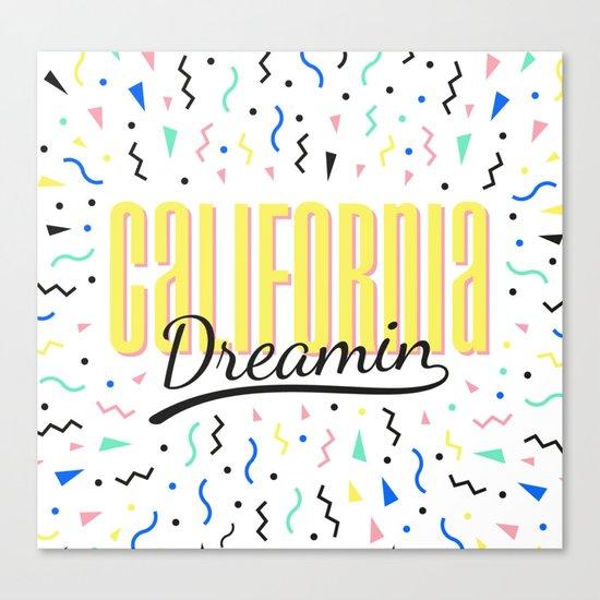 California dreamin (memphis pattern) Canvas Print