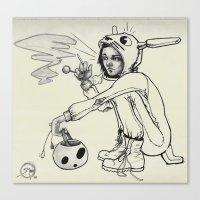 onesie Canvas Prints featuring Torn Onesie by Steve Mont