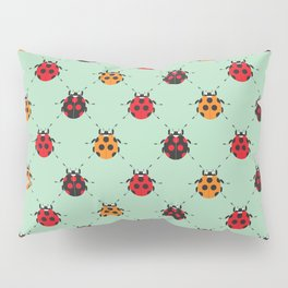 Lady Bug Green Pillow Sham