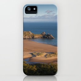 Three Cliffs Bay Gower iPhone Case