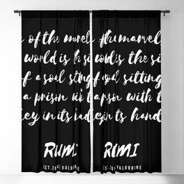 25 | Rumi Quotes Good Vibes 190514 Blackout Curtain
