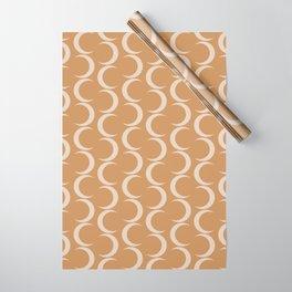 Crescent Moon Pattern - Desert Orange Wrapping Paper