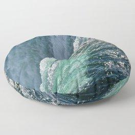 Niagara Falls - Closeup Floor Pillow