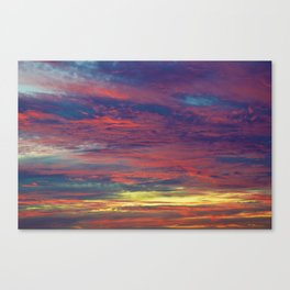 Cotton Candy coloured sky Canvas Print