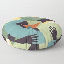 Open your mind #art print#abstract Floor Pillow