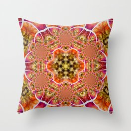 Strawberry Fields Abstract Art Throw Pillow