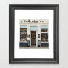 The Chocolate Corner Framed Art Print