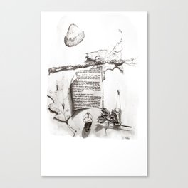 Writing ReDrawn on White Canvas Print