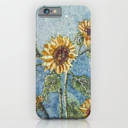Watercolor Sunflowers,Watercolor Batik, Sunflower Art,Sunflower Flower iPhone Case