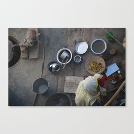 Learning to Cook from Above Canvas Print