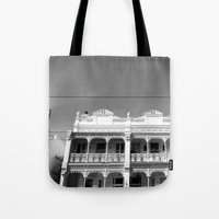 melbourne Tote Bags featuring Melbourne by Hannah