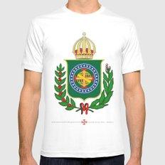 Brasão Imperial Brasileiro Mens Fitted Tee MEDIUM White