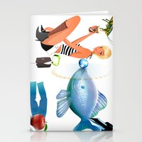 surrealism Stationery Cards featuring Surrealism by amanvel