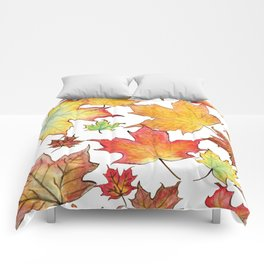 Autumn Maple Leaves Comforters