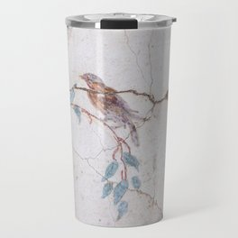 Detail of an ancient Roman Fresco in Pompeii Travel Mug