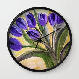 Fresh cut tulips Wall Clock