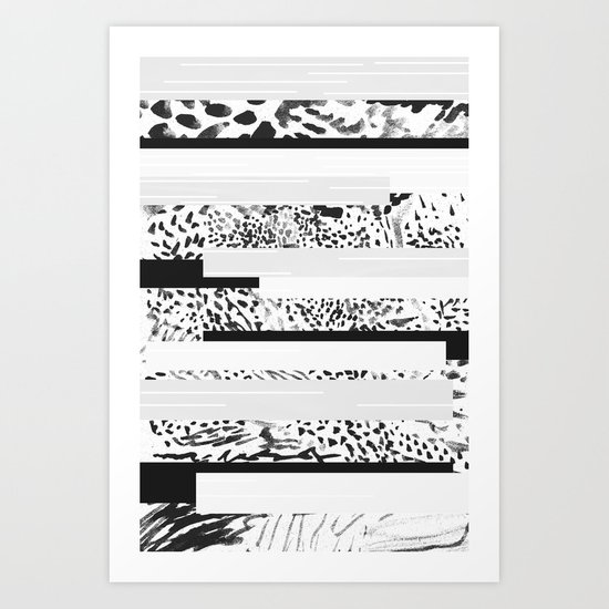 BW Mix Art Print