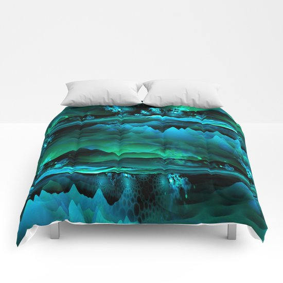 Residual Worlds (green) Comforters