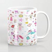 girl power Mugs featuring Girl Power by Art Tree Designs