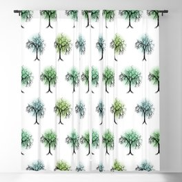 Tree pattern Blackout Curtain