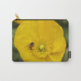 Poppy with Bee Carry-All Pouch