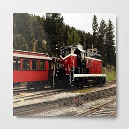 Black Hills Diesel Locmotive # 63 Abstract Metal Print