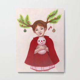 HAPPY CHRISTMAS Metal Print