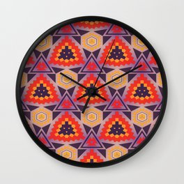 Triangles honeycombs and other shapes pattern Wall Clock