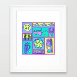 Pisces Framed Art Print
