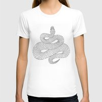snake T-shirts featuring Snake by Syrupea