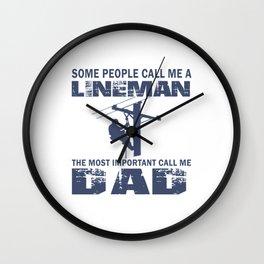 Lineman Dad Wall Clock
