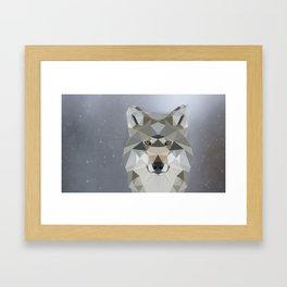LowPoly Wolf Framed Art Print