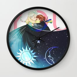The Sun, the Moon and the Sky Wall Clock