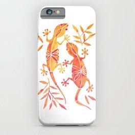 Geckos – Fire Palette iPhone Case