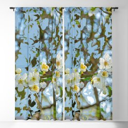 Flower branch - abstract background Blackout Curtain