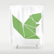 Squirrel origami Shower Curtain
