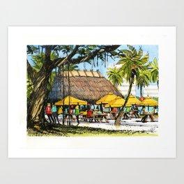 The Tiki Bar, Sarasota Art Print