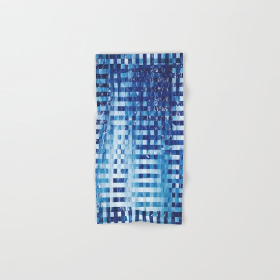 Nautical pixel abstract pattern Hand & Bath Towel